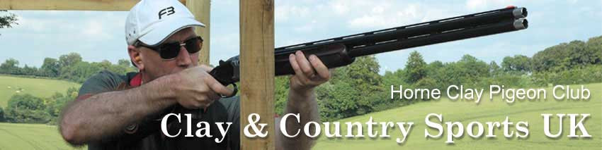 Horne Clay Pigeon Club Clay and country banner