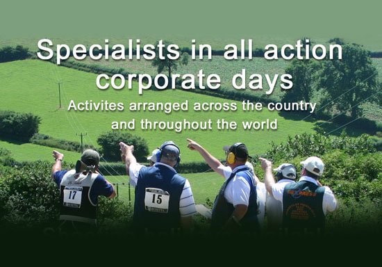 Specialist in all action corporate days. Activities arranged across the country and throughout the world